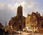 unknow artist European city landscape, street landsacpe, construction, frontstore, building and architecture. 168 painting
