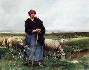 unknow artist Sheepherder and Sheep 199 china oil painting reproduction