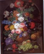 unknow artist Floral, beautiful classical still life of flowers.090 oil painting reproduction
