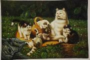unknow artist cats 034 china oil painting reproduction