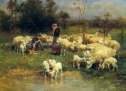unknow artist Sheep 068 china oil painting reproduction