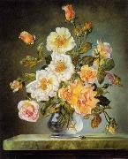unknow artist Floral, beautiful classical still life of flowers.135 oil painting reproduction