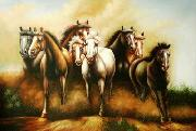 unknow artist Horses 047 china oil painting reproduction