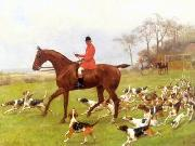 unknow artist Classical hunting fox, Equestrian and Beautiful Horses, 109. china oil painting reproduction