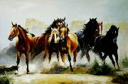 unknow artist Horses 042 china oil painting reproduction