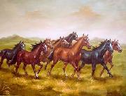 unknow artist Horses 013 painting