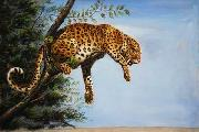 unknow artist Leopard 027 china oil painting reproduction