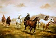 unknow artist Horses 03 painting