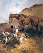 unknow artist Classical hunting fox, Equestrian and Beautiful Horses, 035. china oil painting reproduction
