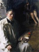 Anders Zorn Sjalvportratt with model oil painting reproduction
