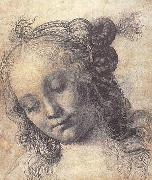 Andrea del Verrocchio Head of a Girl painting