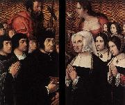 Barend van Orley Haneton Triptych painting