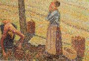 Camille Pissarro Detail of Pick  Apples oil painting reproduction