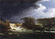 Carl Johan Fahlcrantz Vattenfall,Alvkarleby oil on canvas