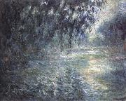 Claude Monet morning on the Seine oil painting reproduction