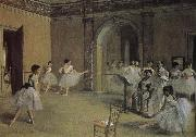 Edgar Degas Opera-s dry running hall painting