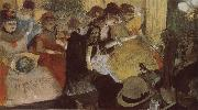 Edgar Degas Opera performance in the restaurant painting