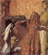 Edgar Degas breakfast after the bath oil painting reproduction
