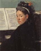Edgar Degas Mlle Dihau at the Piano oil painting reproduction