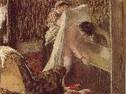 Edgar Degas woman after bath oil painting reproduction