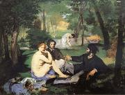 Edouard Manet Having lunch on the grassplot painting