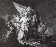 Francisco Goya Hannibal surveying the Italian Prospect painting