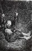 Francisco Goya Old man on a Swing oil painting reproduction