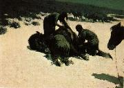 Frederic Remington Hungry Moon painting