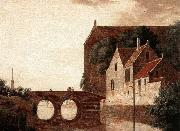 HEYDEN, Jan van der View of a Bridge oil painting reproduction
