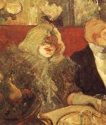 Henri de toulouse-lautrec Having dinner together painting