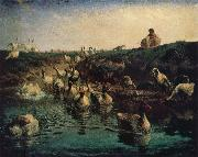 Jean Francois Millet Geese china oil painting reproduction