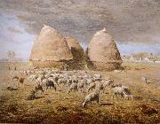 Jean Francois Millet Spring,haymow china oil painting reproduction