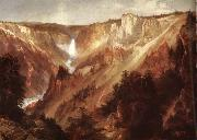 Moran, Thomas Lower falls of the yellowstone oil painting reproduction