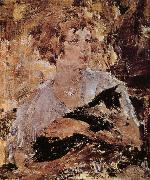 Nikolay Fechin Lady with cat oil painting reproduction