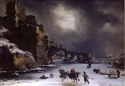 Rembrandt Harmensz Van Rijn City wall in the winter oil