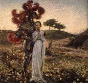 Richard Bergh Knight and The virgin oil