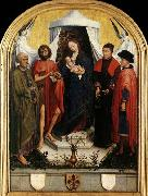 WEYDEN, Rogier van der Virgin with the Child and Four Saints china oil painting artist