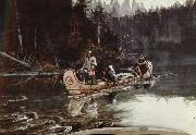 unknow artist On the,Flathead painting