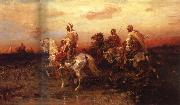 Adolf Schreyer Arab Horsemen on the March china oil painting reproduction