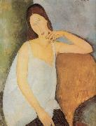 Amedeo Modigliani Portrait of Jeanne Hebuterne oil painting reproduction