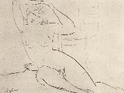 Amedeo Modigliani Seated Nude oil painting reproduction
