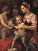 Andrea del Sarto Holy family and younger John painting