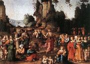 BACCHIACCA The Preaching of Saint John the Baptist oil painting reproduction