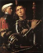 CAVAZZOLA Warrior with Equerry oil on canvas