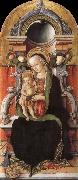 Carlo Crivelli Faith madonna with child, and the donor oil painting reproduction