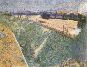 Charles Angrand The Western Railway Leaving Paris oil on canvas