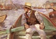 Christian Krohg Look ahead,the harbour at Bergen oil painting reproduction