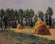 Claude Monet Haystacks at Giverny painting
