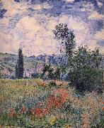 Claude Monet Poppy Field Near Vetheuil oil painting reproduction