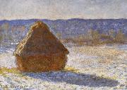 Claude Monet Haystack in the Snwo,Morning painting